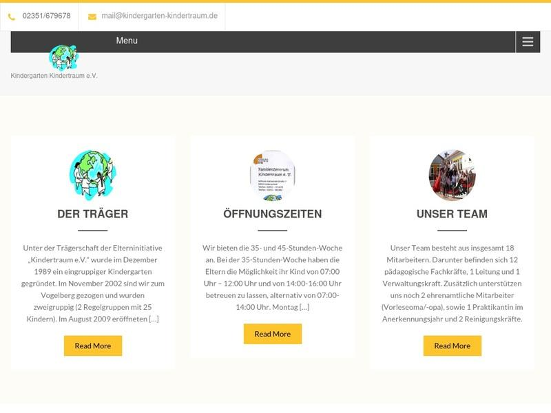 Screenshot von www.kindergarten-kindertraum.de