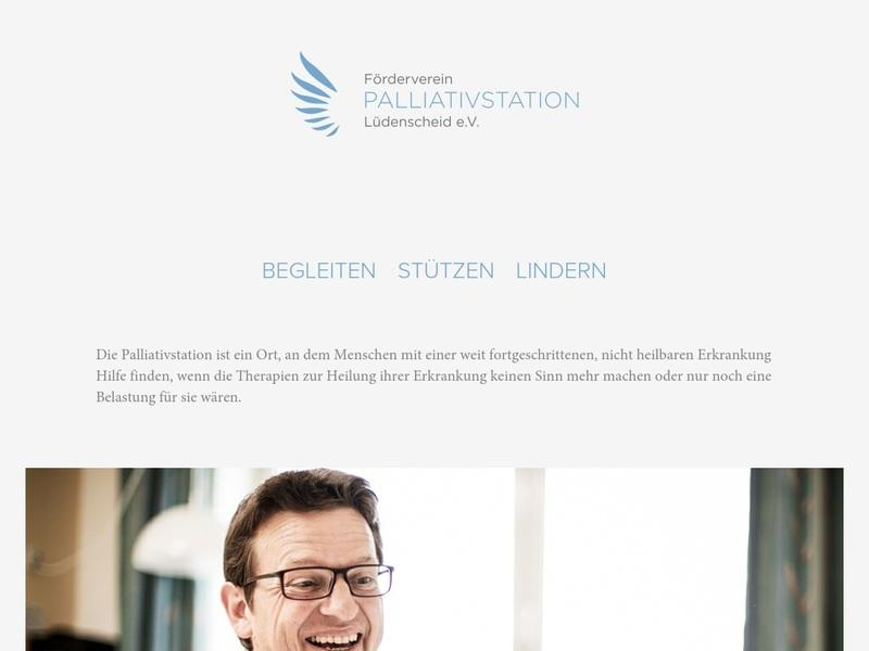 Screenshot von www.palliativstation-luedenscheid.de