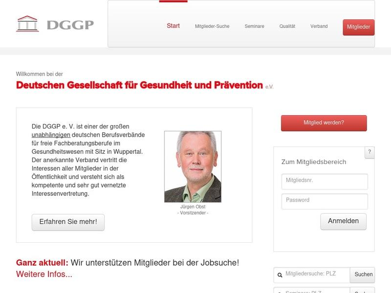 Screenshot von www.dggp.org